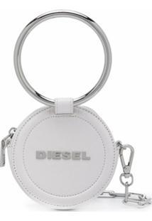 Diesel Carteira Redonda Com Corrente - Branco