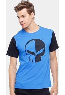 Camiseta Corvette Strong Masculina - Masculino-Azul