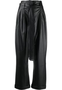 Each X Other Vegan Leather High Waist Trousers - Preto