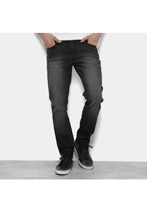 Calça Jeans Skinny Calvin Klein Stone Black Masculina - Masculino