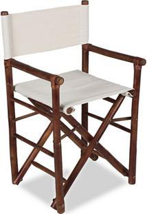 Cadeira Diretor Bamboo Marrom Acasa