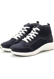 Coturno Tênis Casual Jhon Boots Clássico Azul
