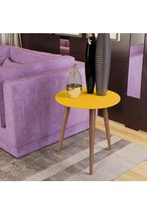 Mesa Lateral Retrã´ Cissa - Amarelo - Compre Aqui - Incolor - Dafiti