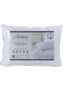 Travesseiro Suporte Médio- Branco- 10X70X50Cm- 2Altenburg