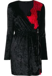 Marcelo Burlon County Of Milan Two Tone Dress - Preto