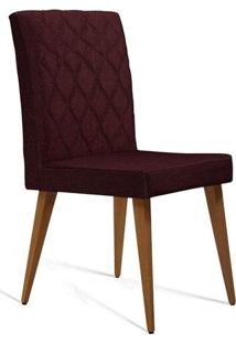 Cadeira De Jantar Edon Linho Vinho