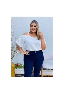 Blusa Feminina Mac-Lu Ciganinha Bordada