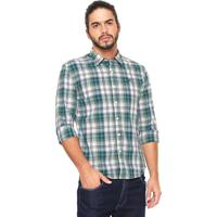 Camisa Ellus 2Nd Floor Reta Xadrez Branca Verde 3f2a5eb8bdec3