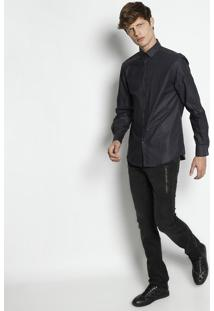 Camisa Trend Geométrica - Cinza Escuroversace Collection