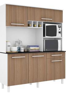 Cozinha Compacta Classic 5 Pt 1 Gv Branca E Montana
