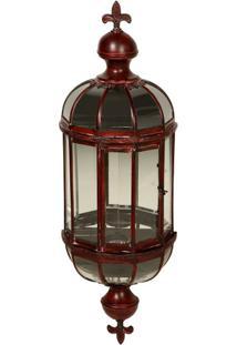 Lanterna Decorativa De Metal Envelhecido Pendente Valença