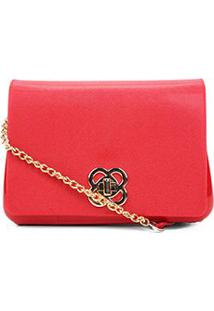 Bolsa Petite Jolie Mini Bag Alça Corrente Feminina - Feminino-Vermelho