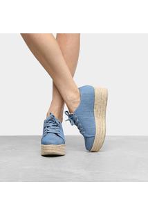948eecda7 Netshoes. Calçado Tênis Feminino Jeans Artesanal Urbano Bano Jorge Alex  Corda - Caixa Alta