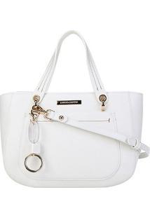 Bolsa Loucos&Santos Floter Soft Charm Bag Feminina - Feminino-Branco