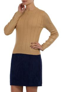 Blusa Tricot Foil Mx Fashion Nice Dourada