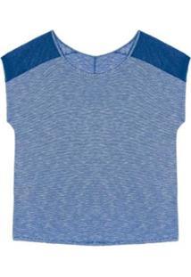 Blusa Plus Size Rovitex Premium - Feminino-Azul