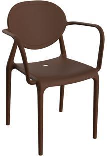 Cadeira Slick Com Braço Chocolate