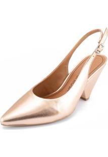 Sapato Morena Rosa Chanel Fivela Personalizada Nude - 35