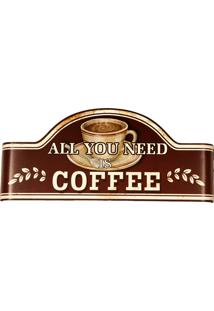 Placa De Metal Decorativa Vintage Need Coffee
