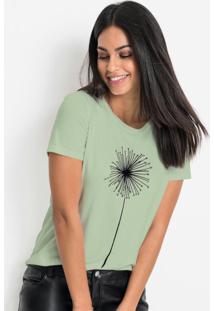 Blusa Com Estampa Localizada Frontal Verde Candy