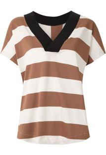 Osklen Blusa Maxi Stripe Listrada - Estampado