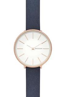 Relógio Skagen Karolina Feminino - Feminino-Azul