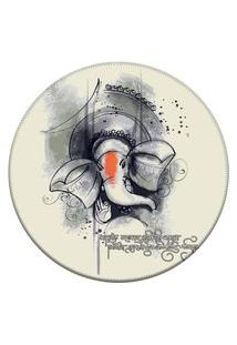 Tapete Love Decor Redondo Wevans Elefante Off White 84Cm