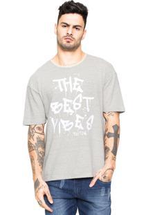 Camiseta Triton Estampada Bege
