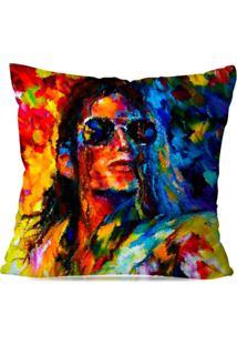 Almofada Avulsa Decorativa Popart Michael Jackson
