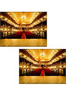 Jogo Americano Colours Creative Photo Decor - Teatro - 2 Peças