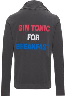 Blusa Masculino Gin For Breakfast - Cinza