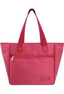 Bolsa Shopper Com Recortes- Vermelha & Rosa- 28,5X30Jacki Design