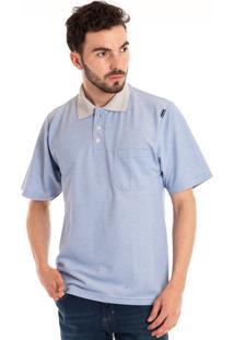 Camisa Polo Konciny Manga Curta Lilás
