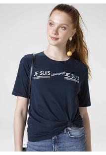 T-Shirt Em Malha De Algodão Com Estampa Localizada