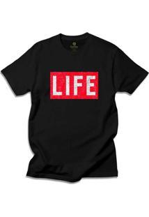 Camiseta Cool Tees Revista Life Magazine - Masculino-Preto