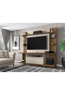 Estante Home Para Tv Até 50 Polegadas 1 Porta New Torino Móveis Bechara Cinamomo/Off White
