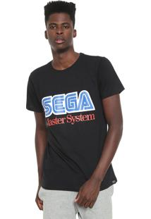 Camiseta Tectoy Master System Sega Preta