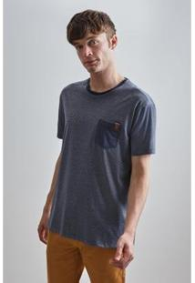 Camiseta Pf Listra Bolso Reserva Masculina - Masculino-Marinho