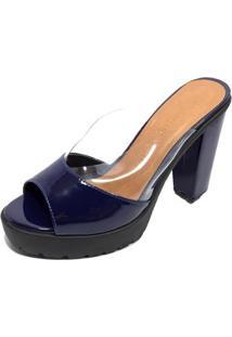 bf02e5e240 Tamanco Azul Marinho feminino