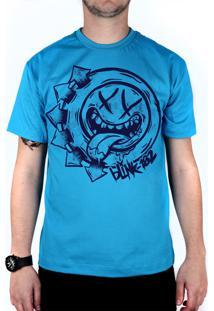 Camiseta 182Life Smile Hungry Turquesa
