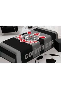Cobertor Raschel Casal Jolitex Corinthians 180X220Cm
