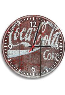 Relógio De Parede Decorativo Retrô Coca-Cola Coke Único