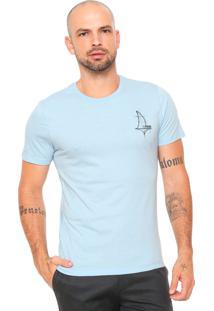 Camiseta Forum Estampada Azul