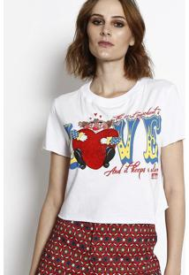 Blusa Cropped Palhaço - Branca & Vermelha- My Favorimy Favorite Things