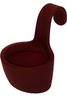 Vaso Em Polietileno Varanda 21X14Cm Antique Vermelho
