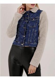 Jaqueta Jeans Vizzy Feminina - Feminino-Azul