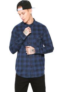 Camisa Billabong Xadrez Azul/ Preta
