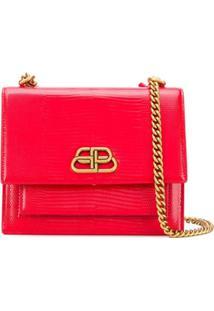Balenciaga Bolsa Transversal Com Placa De Logo - Vermelho