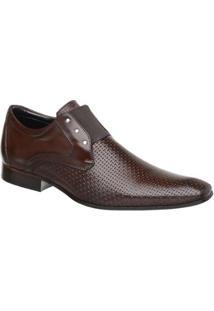 Sapato Social Couro Malbork Verniz Masculino - Masculino-Marrom