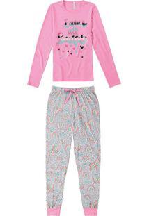 Pijama Feminino Longo Com Amarrador Malwee Liberta